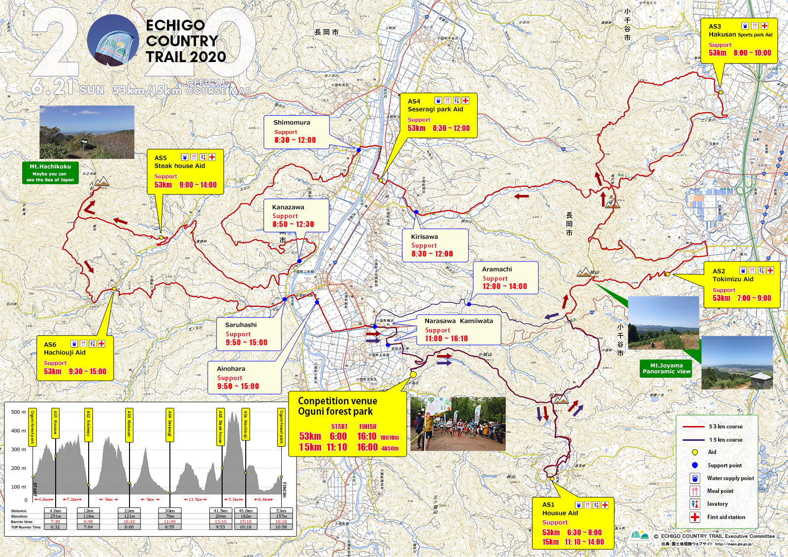 53km course map